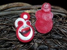 Valentine's Day soutache earrings for sale at Etsy EmilySoutache shop for €10
