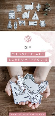 DIY: cute shrink wrap magnets for your favorite photos. How you can quickly and easily make super cute magnets out of shrink film and put your favorite photos in the limelight. Pbs Kids, Diy Presents, Diy Gifts, Shrink Film, Magnetic Chalkboard, Diy Tumblr, Holiday Break, Shrink Wrap, Dado