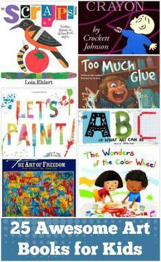 Awesome Art Books for Kids 25 Art Books for Kids. or a bigger cart with a built in bookshelf. Art Books for Kids. or a bigger cart with a built in bookshelf. Art Books For Kids, Childrens Books, Art For Kids, Kid Books, Kids Fun, Preschool Books, Kindergarten Art, Hand Kunst, Children's Literature