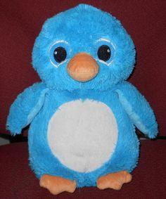 "Turquoise Penguin Plush Stuffed Animal Pillow 10"" A38408 Arctic Polar Toy Doll…"