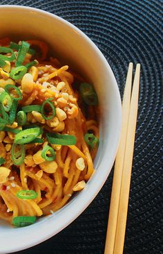 Sesame Peanut Noodles www.theglasgowscullery.com just pleeeeease make the sauce while the pasta cooks, don't set it aside to get cold and chewy..i am open-minded, yes, but still, i am italian!