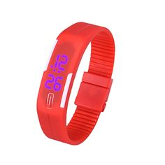 Sport LED Women Watches Candy Color Silicone Rubber Touch Screen Digital Watches Waterproof Bracelet Wrist watch