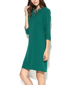 $49.99 Another great find on #zulily! Dark Green Sheath Dress - Women & Plus #zulilyfinds