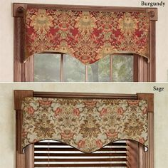 Adorn any window with the distinctively-styled Como Tapestry Fabric Window Valance. Scalloped valance is made from rayon/polyester tapestry fabric. Cornices, Valances, Curtains With Blinds, Valance Curtains, Window Coverings, Window Treatments, Simple Home Decoration, Country Curtains, Tapestry Fabric
