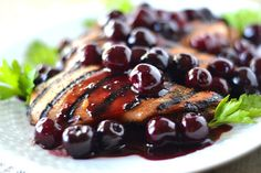 Grilled Chicken with Fresh Cherry Sauce | 20 Cherry Recipes