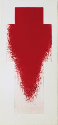 plate: 45 x 19 x cm); sheet: 52 x 24 x cm). Drawings and Prints Arnulf Rainer, Moma Art, Red Art, Red Cross, Artist Art, Printmaking, Contemporary Art, Abstract Art, Artsy