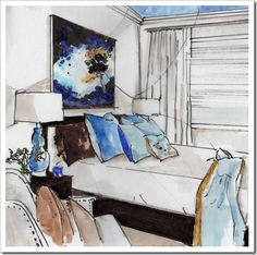 ---After Adornment---: Interior Renderings and Sketches/ By Michele Morelan