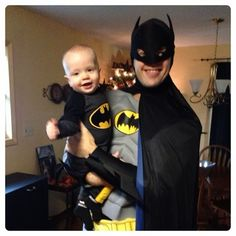 Batman costumes for Halloween! Cute little baby Batman!