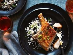 Pork Chops Get a Sweet-and-Savory Coating with Banana Chips #FNDish