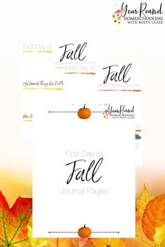 Kids will have fun recording facts and their thoughts each autumn using these fun first day of fall journal pages to celebrate the new season. #FirstDayofFall #Fall #Autumn #Printables #Homeschool #Homeschooling #YearRoundHomeschooling #Journal #Journaling