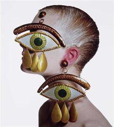 Irving Penn- Gauthier Eye Earrings,1998.