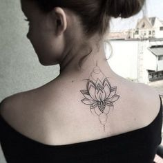 Not lotus but tattoo placement up into neck is nice