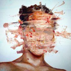 Kai Fine Art is an art website, shows painting and illustration works all over the world. Abstract Portrait, Portrait Art, Portraits, Abstract Oil, Painting Inspiration, Art Inspo, Cesar Biojo, Distortion Art, Arte Sketchbook