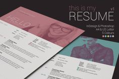 My Resume V1 ~ Resume Templates on Creative Market