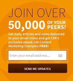 ContentMarketingInstitute.com - Email Sign-up Box Example