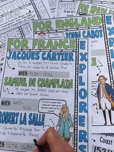 Looking for a fun way to review the explorers? Engage students with these review doodle notes. These fun doodle notes cover the following 20 explorers for England, France, Netherlands, Spain, and Portugal: John Cabot, Francis Drake, James Cook, Henry Hudson, Giovanni da Verrazzano, Jacques Cartier, Samuel de Champlain, and Robert la Salle, Prince Henry, Bartolomeu Dias, Christopher Columbus, and more! Great for upper elementary, middle school, and high school students & homeschool families!