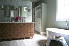 #interior #elegant #simple #sleek #modern #bathroom #plain #bathtub #grey #gray #home #light #bright #calm