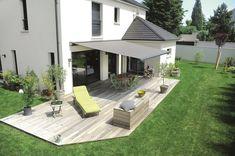 Pergola In Front Yard Backyard Shade, Patio Shade, Backyard Patio Designs, Diy Patio, Hot Tub Garden, Balcony Garden, Patio Canopy, Outdoor Curtains, Home Landscaping