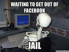 Facebook Jail, Facebook Humor, Jail Meme, Funny, Funny Taglines, Hilarious Pictures, Hilarious, Funny Parenting