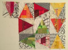 The Patchery Menagerie: Scrappy Slab Triangles