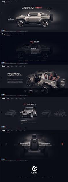 Inspiring web design for Jeep Web Responsive, Ui Web, Webdesign Inspiration, Website Design Inspiration, Website Layout, Web Layout, Ux Design, Layout Design, Footer Design