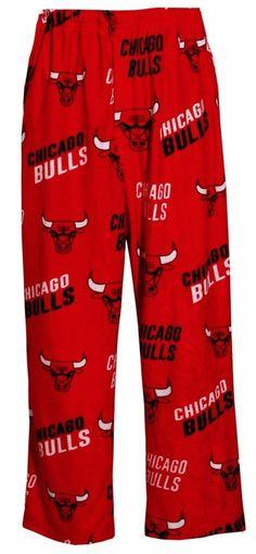 06b3bc234d6f Amazon.com  Chicago Bulls NBA Mens Micro Fleece Scatter Pattern Pajama Pants   Clothing
