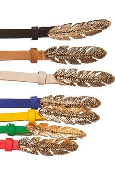 Feather belts. I need to know where these are from.