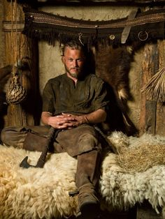 Get This Special Offer Vikings 8 x 10 Photo Travis Fimmel/Ragnar Lothbrok Sexy Sitting on Animal Skins w/Axe kn
