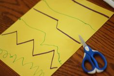 """Don't waste your ink printing out """"cutting skills printables""""!  Just draw some lines on a piece of construction paper and have your child try to copy them for extra practice."""