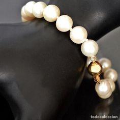 27d8dae9fabb Magnifica pulsera de genuínas perlas akoya y oro 18k - perla 9mm esférica