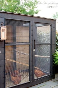 Urban Farm Chicken Coop. Never know? It would be great to have a continuous supply of eggs. Easier than milking a cow. ;)