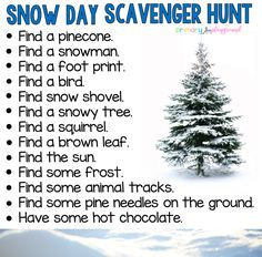 Snow Day Scavenger Hunt