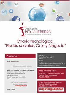 """""""Redes Sociales: Ocio y Negocio"""" en el Colegio San Francisco de Paula de la mano de Carmen Palmar. #TúEstásOn"""