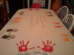 Our Thanksgiving Table cloth craft