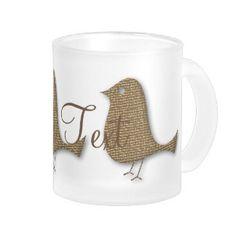 Personalised Golden Bird Event Mug