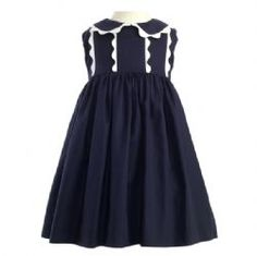 love a little girl in navy