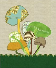 Woodland Nursery Mushroom Print Art Poster, Whimsical Art, 8x10 Mushroom Forest Wall Decor, Woodland Nursery Mushroom Illustration. $19.00, via Etsy.
