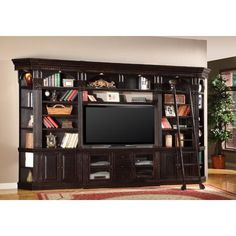 Parker House Venezia 60 In. Library Wall Entertainment Center   A  Sophisticated Home Theater And A Stately Private Library All In One, The Parker  House ...