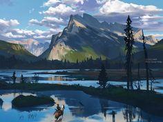 -- Share via Artstation iOS App, Artstation © 2016 Landscape Concept, Fantasy Landscape, Landscape Art, Landscape Paintings, Landscapes, Environment Concept Art, Environment Design, Fantasy Places, Fantasy World