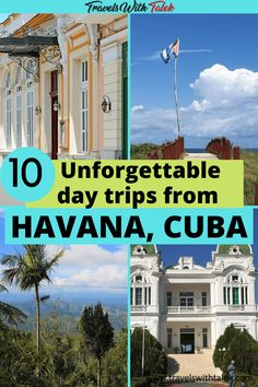 There are many great day trips from Havana, but we chose the 10 most unforgettable day trips to add to your Havana Cuba itinerary. Read this post for the best Havana day trips and get plenty of tips that will help you make the most of them. #havana #cuba  #daytrips #caribbean #travelguide Cuba Travel, Mexico Travel, Travel Usa, Globe Travel, Solo Travel, Costa Rica, Bolivia, South America Travel, North America