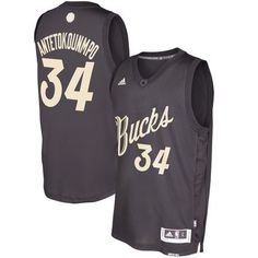 Men s Milwaukee Bucks Giannis Antetokounmpo  GreekFreek adidas Black 2016  Christmas Day Swingman Jersey Nba Swingman 4574d293b