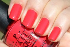 OPI Red Lights ahead! Both my fingers and toes are this color right now and I love it!!