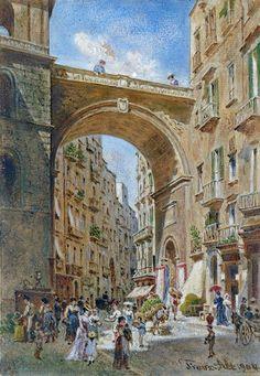 Il ponte di Chiaia a Napoli 1904 Franz Alt