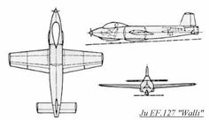 Ju EF.127 Walli  3 view