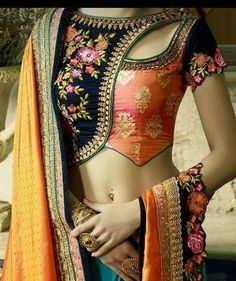 Heres the best new blouse styles - sexy blouse, traditional blouses, lehenga blouse and latest saree blouses to flaunt your best features for your body type Stylish Blouse Design, Fancy Blouse Designs, Sari Blouse Designs, Blouse Styles, Blouse Designs Wedding, Latest Blouse Designs, Choli Designs, Bollywood, Designer Blouse Patterns
