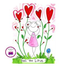 Feel the love. BLOG. Inspiration, beauty, kindness, support and soul encouragement in cartoon…