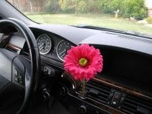 Auto Vase Red Daisy Flower Decorative Girly Car Accessory