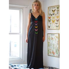 SALE Beulah Butterflies Corset Black Limited Edition Costume Women Lingerie Embroidery Pinup Soft Embroidered Gift for Her