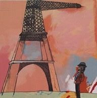 Antonio Segui - Le Tour Eiffel | From a unique collection of prints and multiples at http://www.1stdibs.com/art/prints-works-on-paper/