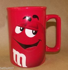 M MS Chocolate Candy Red Collectible Coffee Mug